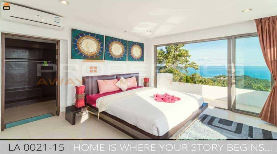 PROPERTIES AWAY 4 BEDROOM SEAVIEW VILLA WITH POOL KOH SAMUI - LAMAI