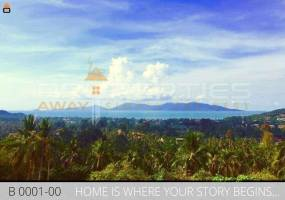 Properties Away 1200 sqm Land with Seaview on Mountain Hill Koh Samui - Bophut