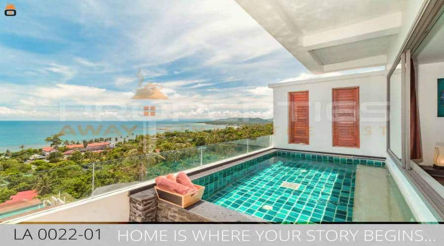 PROPERTIES AWAY 2 BEDOOM SEA VIEW APARTMENT WITH PRIVATE POOL  KOH SAMUI - LAMAI