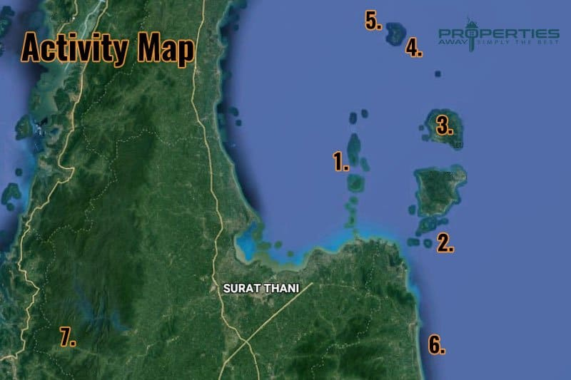 Properties Away Koh Samui Trips - Activity Map