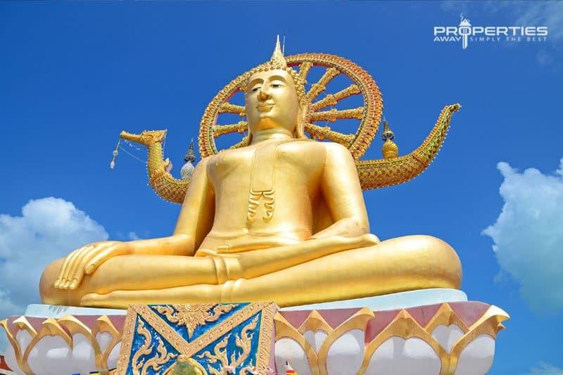Properties Away Koh Samui Temples Wat Phra Yai Big Buddha