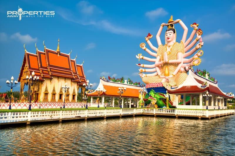 Properties Away Koh Samui Temples Wat Plai Leam