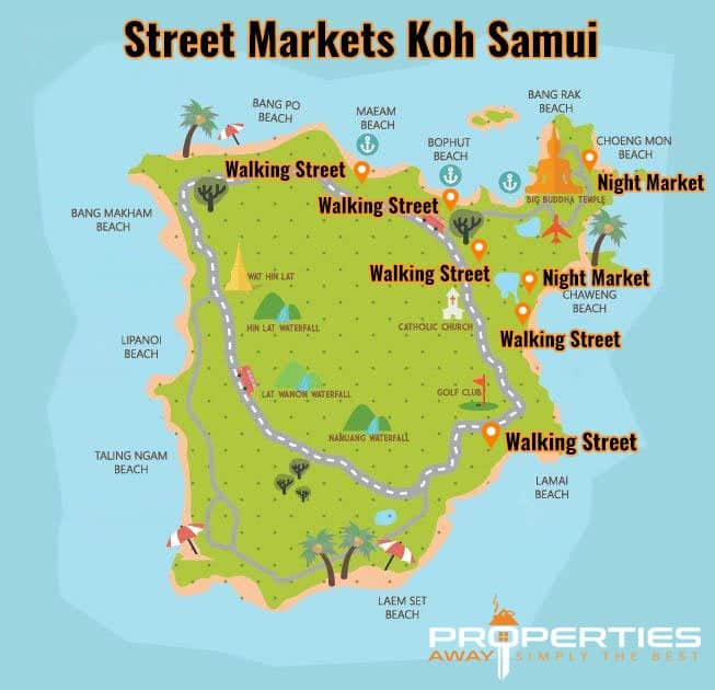 Properties Away Street Markets on Koh Samui- Overview