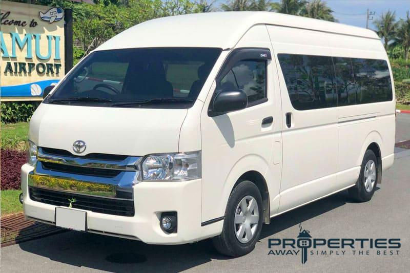 transportation koh samui minivan properties away