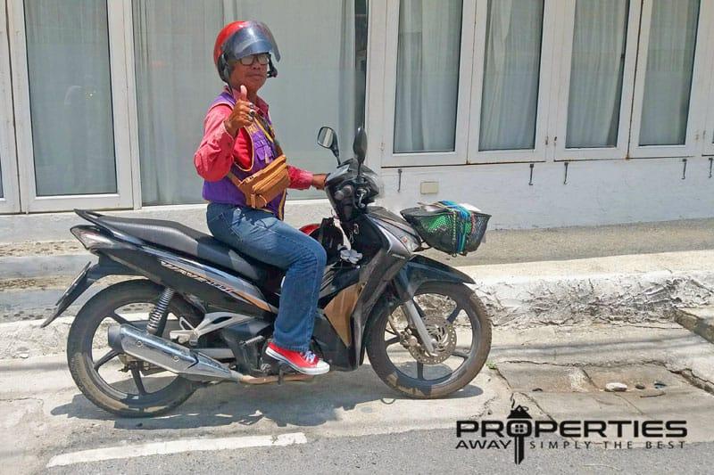 transportation koh samui motorbike taxi properties away