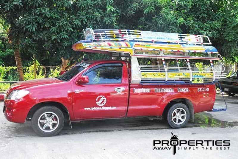 transportation koh samui songthaew properties away